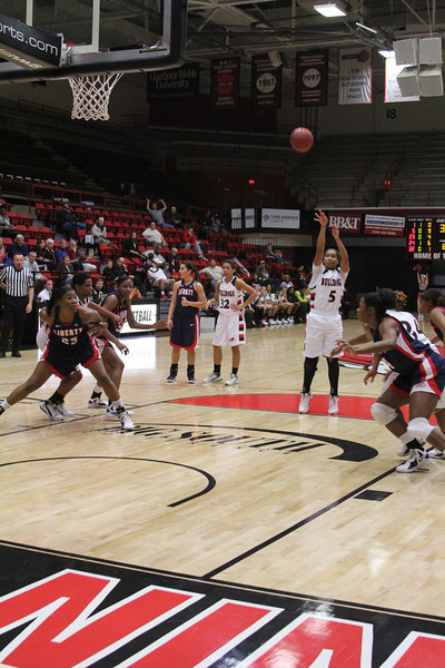 Running Lady Bulldogs take on the Liberty Flames.