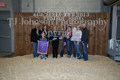 2013 Klein ISD Livestock Show Awards 2