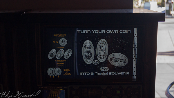 Disneyland Resort, Disneyland, Tomorrowland, Star Trader, StarTrader, Star Wars, Penny, Pennies, Press, Coin, Machine