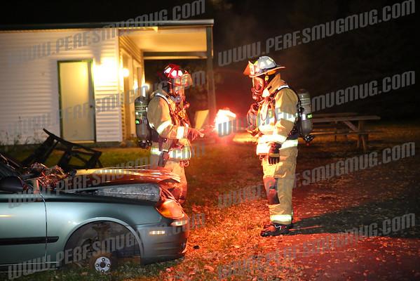Fort Johnson Volunteer Fire Dept car fire training 10-16-2014