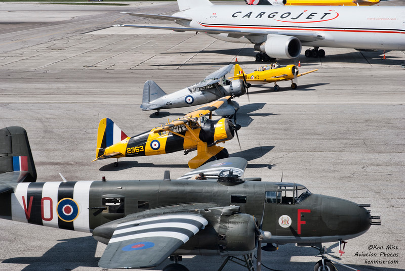 Cornell, 2 Lysanders and a B-25