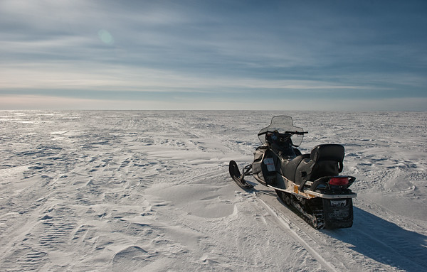 Snowmobile on the Ice