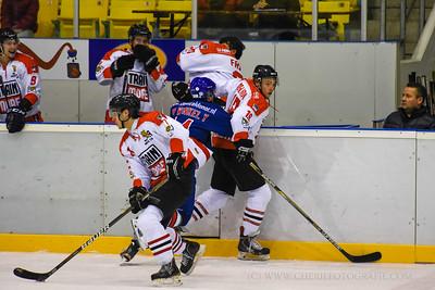 IJshockey wedstrijd Nijmegen Devils -  Amstel Tijgers