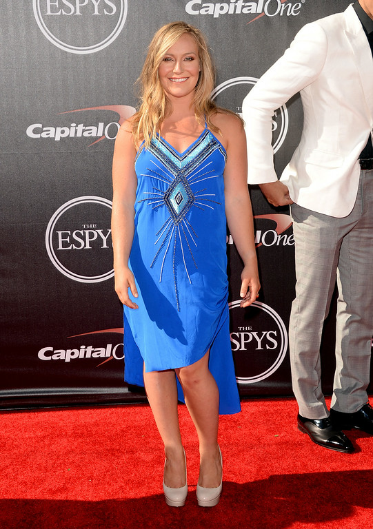 . LOS ANGELES, CA - JULY 16:  Snowboarder Jamie Anderson attends The 2014 ESPYS at Nokia Theatre L.A. Live on July 16, 2014 in Los Angeles, California.  (Photo by Jason Merritt/Getty Images)
