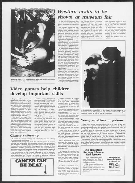 Summer Trojan, Vol. 91, No. 2, June 02, 1982