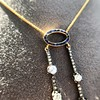 1.80ctw Antique Diamond and Sapphire Negligee Pendant 9