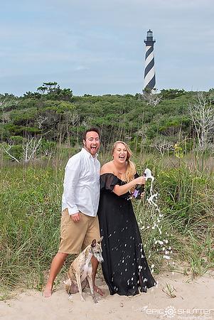 Jennifer and Colin, Cape Hatteras Lighthouse Engagement