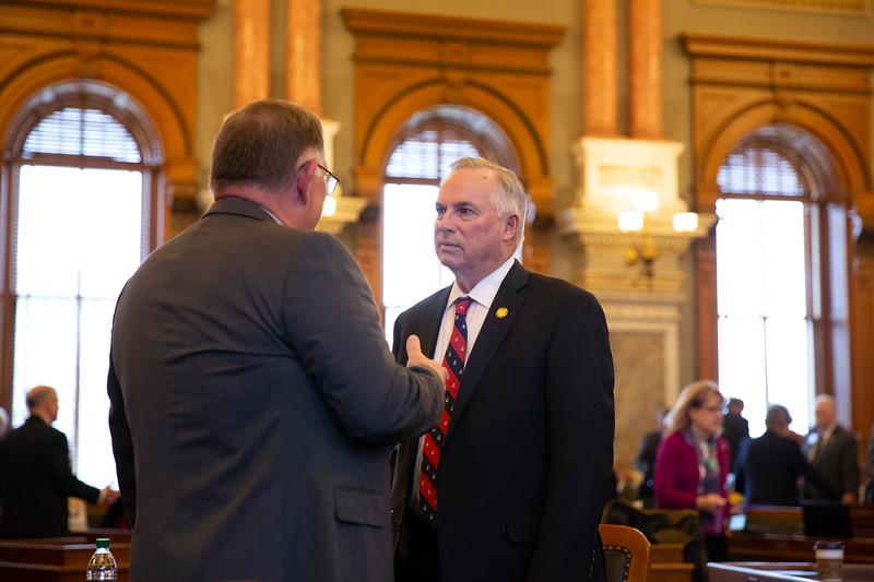 Rep. Dan Hawkins (left) and Rep. Don Hineman (right)
