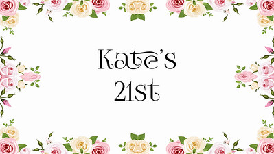 19.06 Kate's 21st