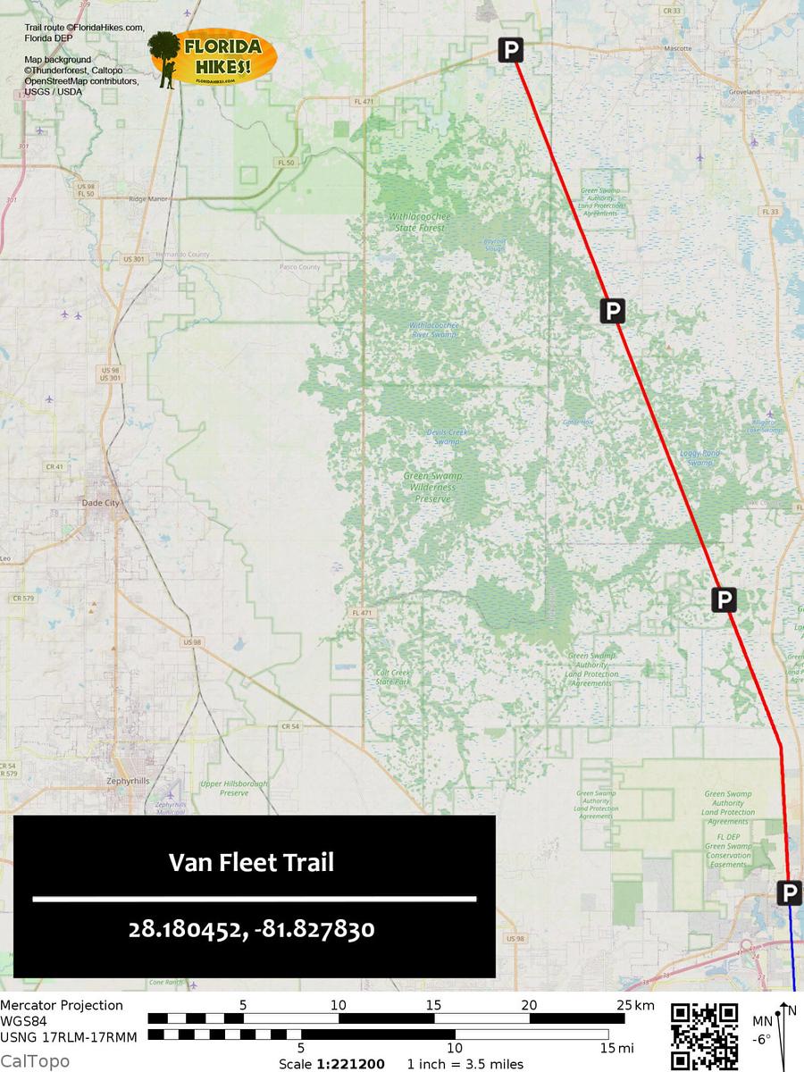 Van Fleet Trail Map