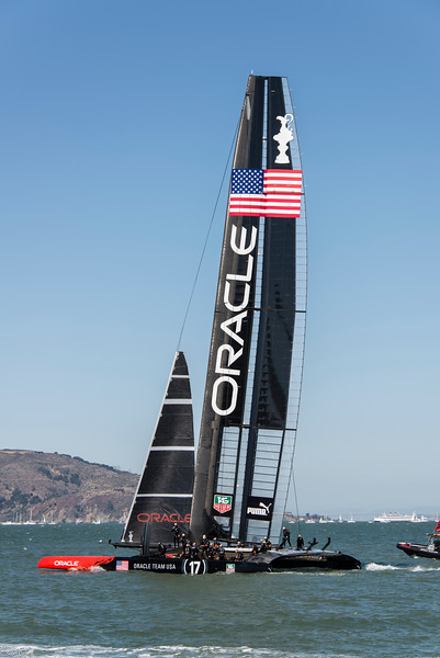 Team Oracle USA heads out for the next race.