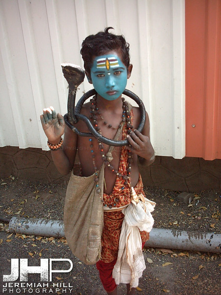 """Boy Shiva in Blue"", Pune, Maharashtra, India, 2004 Print INDIA3-2"