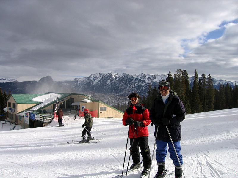 Jeff and Ahsan skiing in Durango.