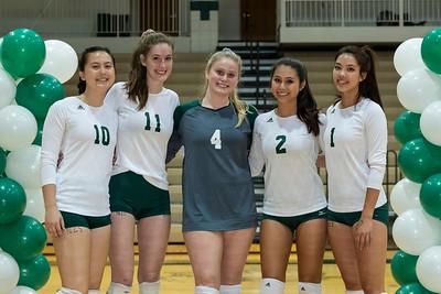 Volleyball Seniors September 26, 2019