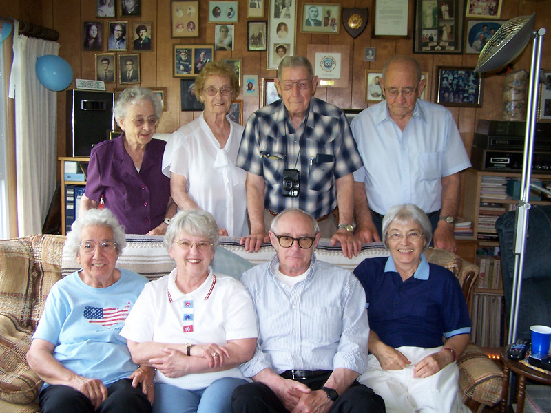 Marie, Amelia, Ray and Frank, Edith, Evelyn, Harry and Myrtle