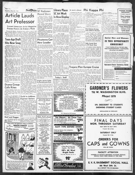 Daily Trojan, Vol. 39, No. 147, May 25, 1948