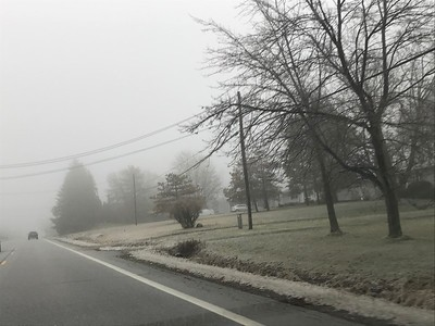 Fog, winter weather blanket area