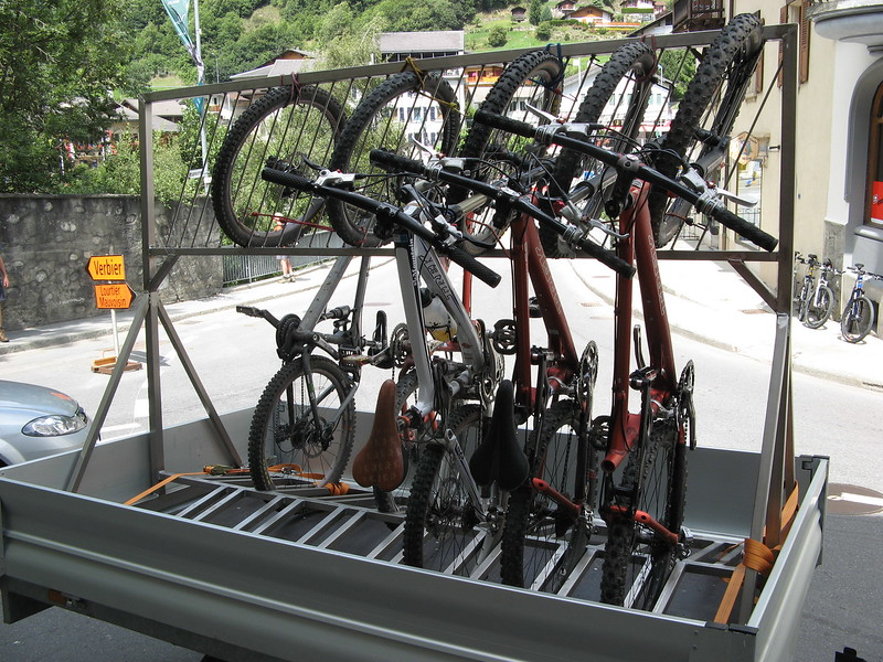 The bike rack.