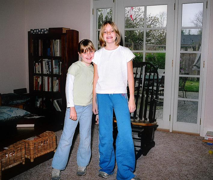 Elena with big 'sis Emily.