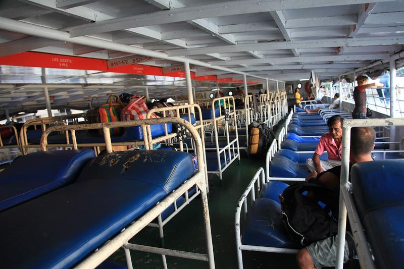 Nasz pokład promowy - zanim przyszli inni pasażerowie