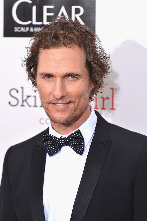 . Actor Matthew McConaughey  arrives at the 18th Annual Critics\' Choice Movie Awards at Barker Hangar on January 10, 2013 in Santa Monica, California.  (Photo by Frazer Harrison/Getty Images)