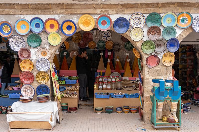 Shops in the Essaouira medina