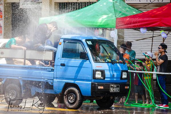 Water Festival in Yangon. Myanmar