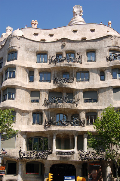 An apartment building by architect Antonio Gaudi.  More on him coming up.