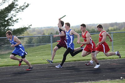 Boys and Girls 400 Meter Relay - 2012 Mid Mich Invite