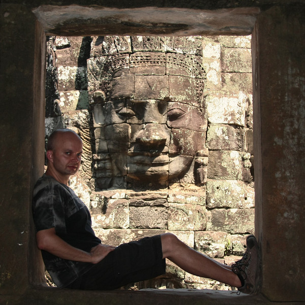 Stone heads :) in Bayon temple, Angkor