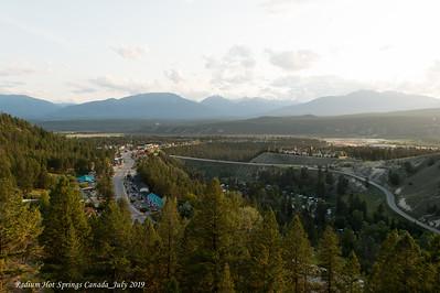 Radium Hot Springs, BC 28 - 30 July 2019