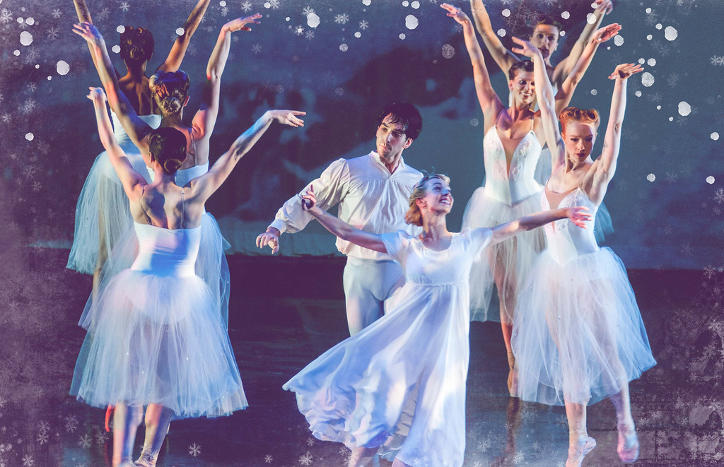 """. Northeast Ohio has multiple \""""Nutcracker\"""" options on stage this weekend. The Cleveland Ballet will perform Tchaikovsky�s classic Dec. 15 through 17 at Playhouse Square�s Hanna Theatre; for more information, visit www.playhousesquare.org. The Moscow Ballet�s �Great Russian Nutcracker� visits Cleveland for shows Dec. 16 at the Music Hall in Cleveland; for more information, visit www.nutcracker.com/your-city/get-tickets/cleveland. One of the more unusual adaptations is Neos Dance Theatre�s original �A 1940s Nutcracker� (pictured), which makes its Lorain County debut Dec. 15 through 17 at the Stocker Center�s Hoke Theatre; for more information, visit www.lorainccc.edu/stocker. (Submitted)"""