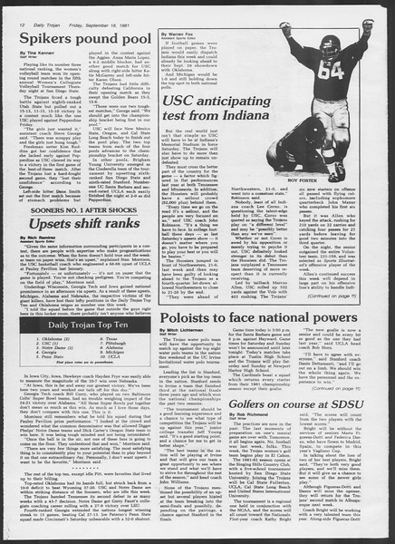 Daily Trojan, Vol. 91, No. 13, September 18, 1981