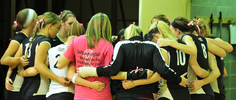 DePauw Volleyball Dig Pink 2010