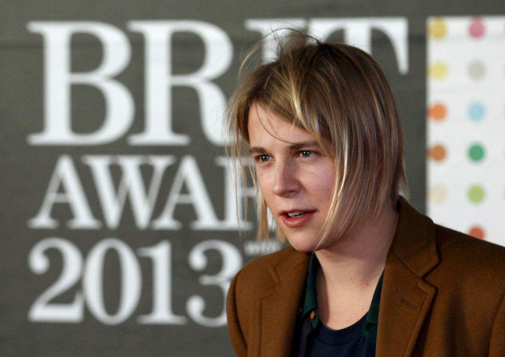 . Tom Odell arrives for the BRIT Awards at the O2 Arena in London February 20, 2013.   REUTERS/Luke Macgregor