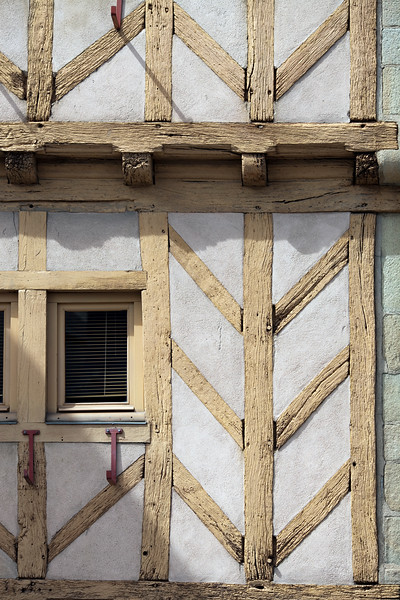 Detail of a typical house, Vannes, Brittany, France