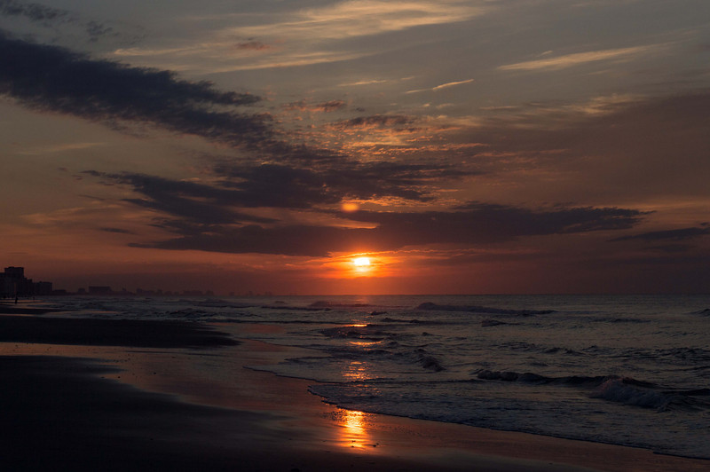 The unsettled and unseasonably warm weather over the Atlantic coast allowed for some colorful sunrises and sunsets.  Being on the East coast, I was able to really take advantage of the sunrises.