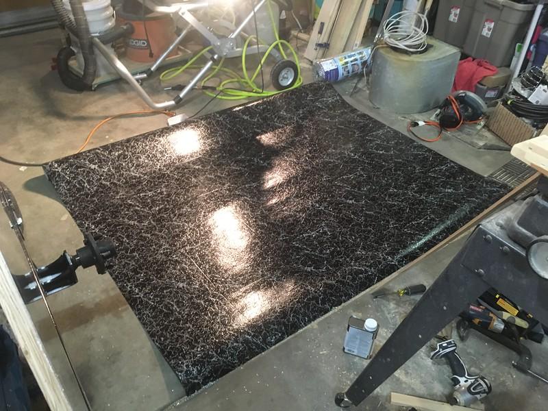 Cutting the linoleum