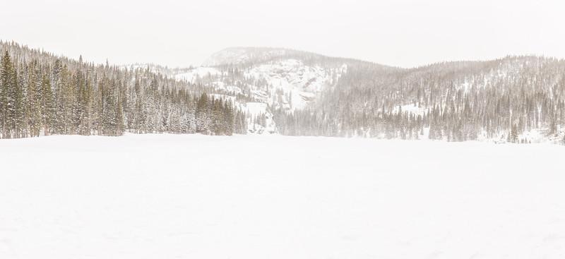 A very snowy Bear Lake.