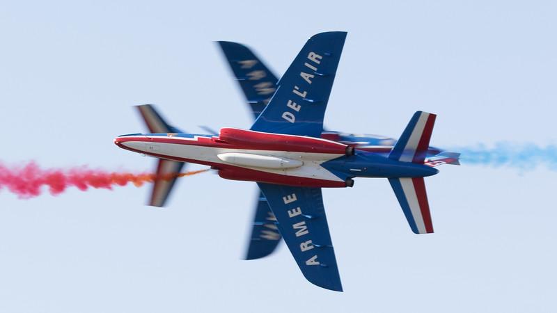 Aviojet, C-101, CASA, French Air Force, Opposition Pass, Patrouille Acrobatique de France, RIAT 2015