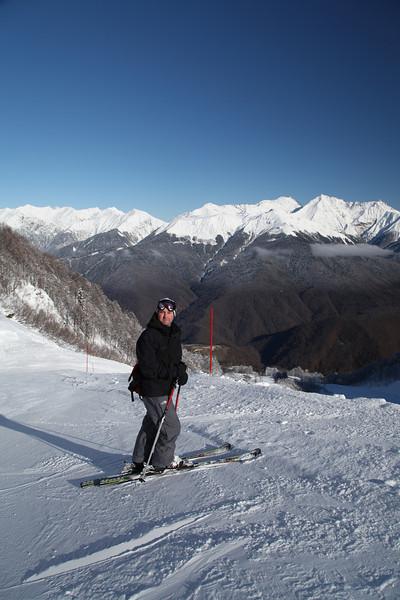 Self-portrait. Rosa Kultor Ski Area near Krasnaya Polyana.