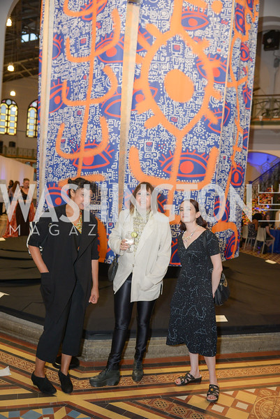 Dawne Langford, Sasha Lord, Liza Lord, By The People, Arts Festival, Smithsonian Arts and Industries Building, June 14th, 2019.  Photo by Ben Droz.