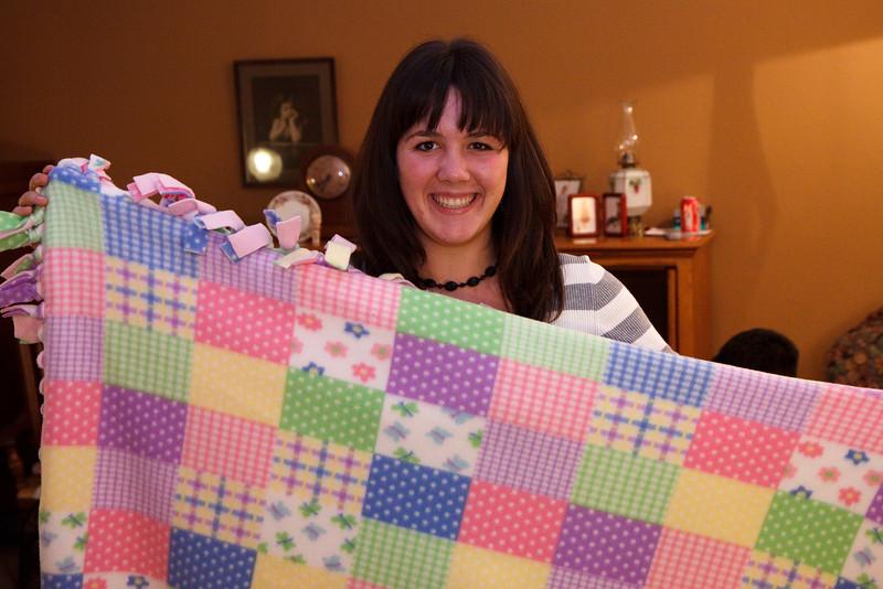 Maddie displays blanket #2