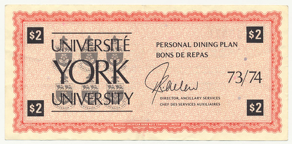 York University Scrip Money
