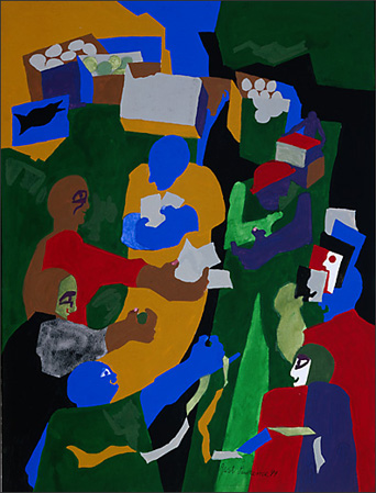 "Jacob Lawrence, ""Games —Street Carnival,"" 1999"