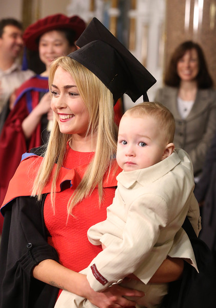 Waterford Institute Of Technology Conferring. Pictured at WIT Waterford Institute Of Technology Conferring is Linda English, Waterford who graduated Higher Certificate in Science in Pharmaceutical Science with her son Kayden. Picture: Patrick Browne