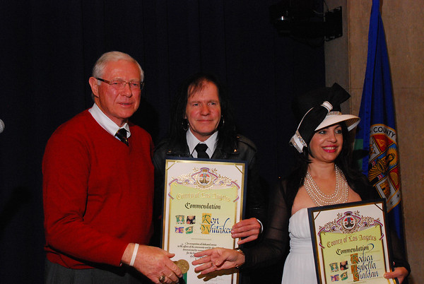 2013-12-11, Ron Whitaker and Rodika receive Humanitarian Awards from The County of Los Angeles