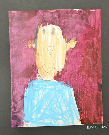 Kindergarten Frida Kahlo-inspired Self Portraits