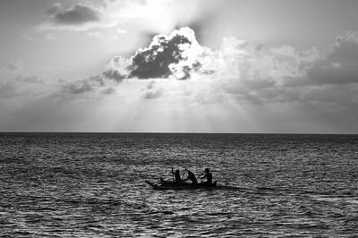 Canoers - North Shore, Oahu, Hawaii