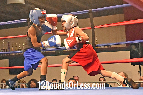 Bout 2 Abdullah Mason, Blue Gloves, Cleveland -vs- Devin Sigeroua, Red Gloves, Akron Boxing Academy, 60 lbs